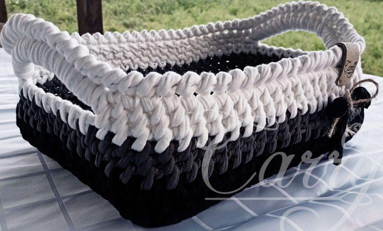 плетен-черно-бял-панер