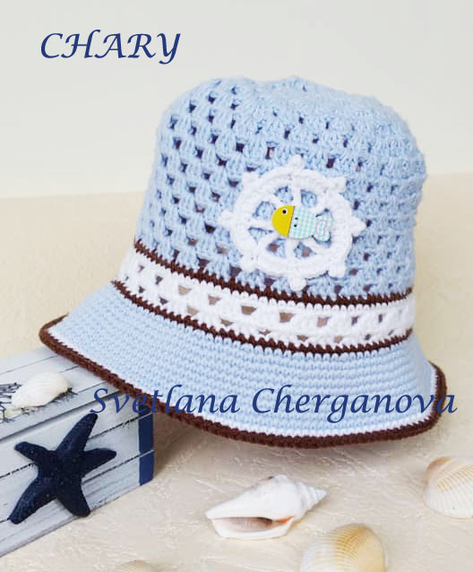 Бебешка-лятна-шапка-от-мека-памучна-прежда