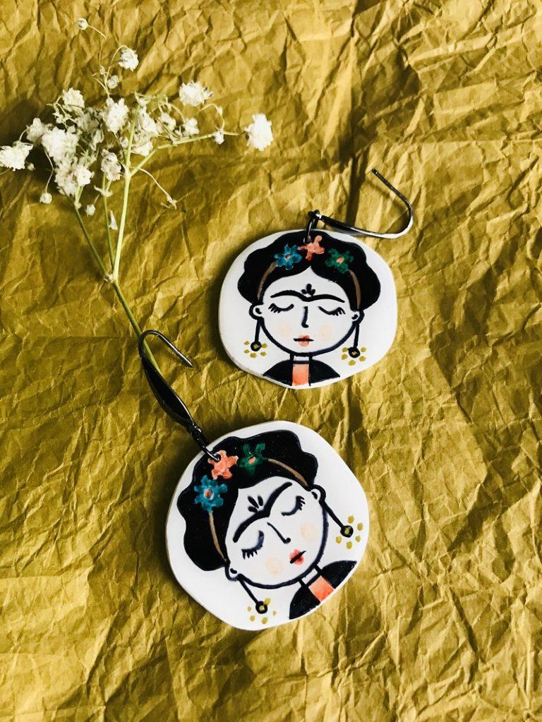 Обеци-Frida-Kahlo