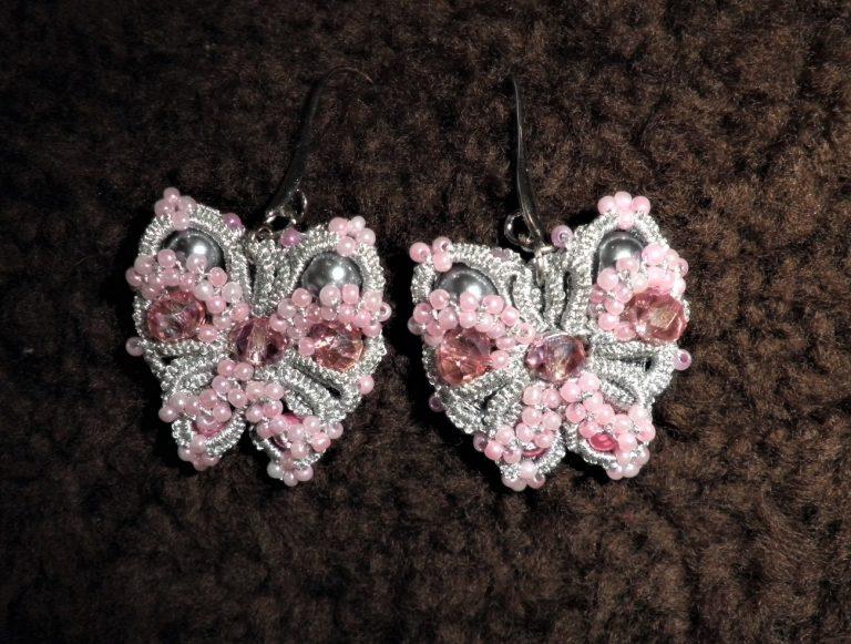 обеци-пеперуди-фриволите