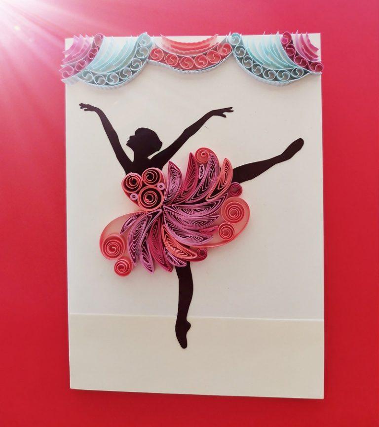квилинг-картичка-балерина
