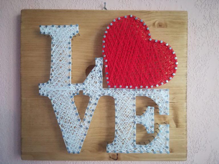 Любов-стринг-арт-пано
