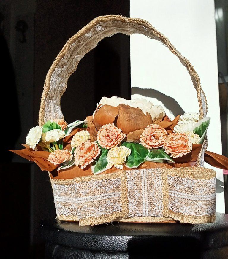 букет-в-кошница