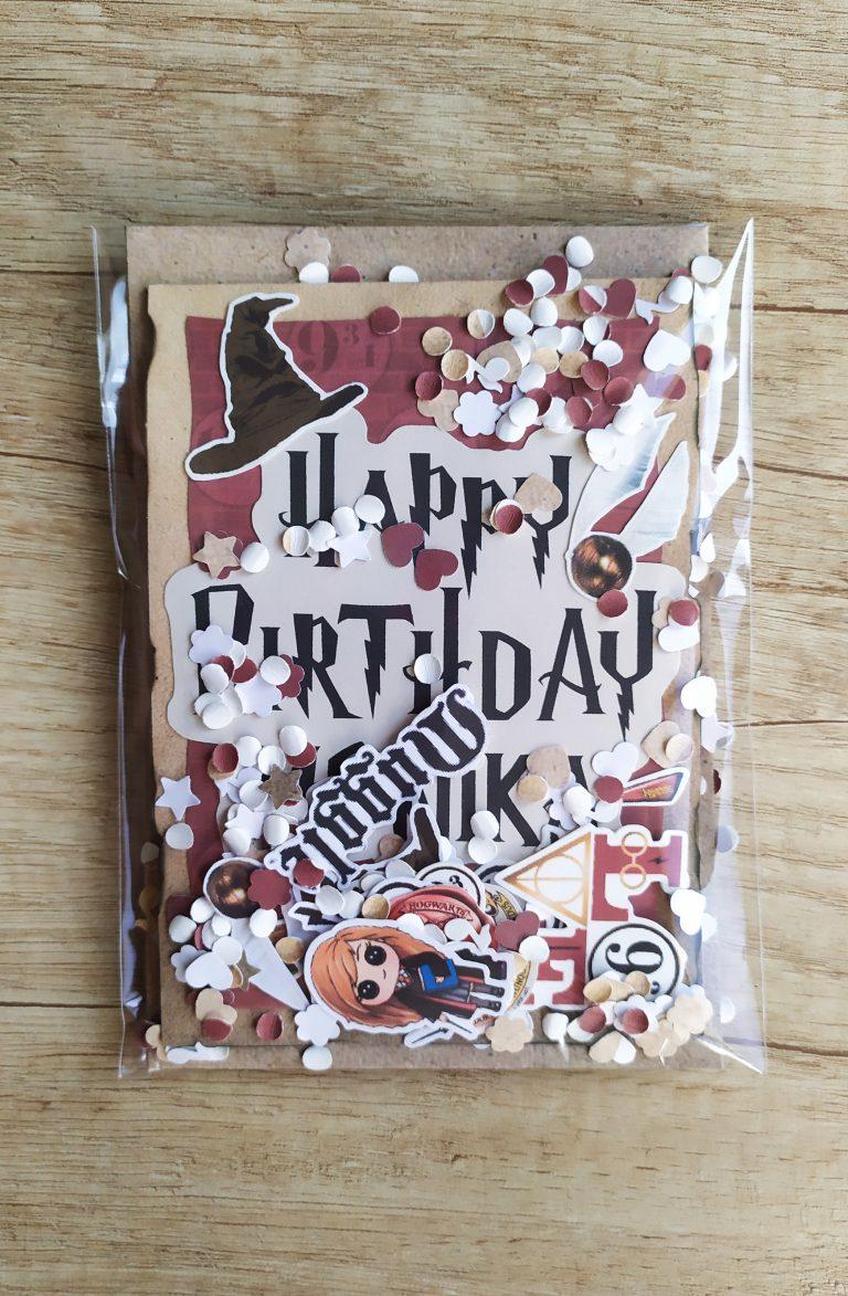 pop-up-картичка-за рожден-ден Хари Потър