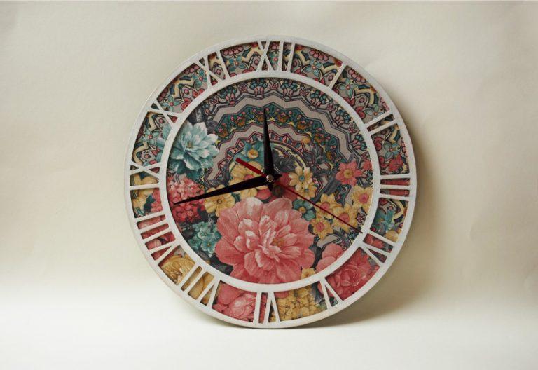 стенен-часовник-flowers