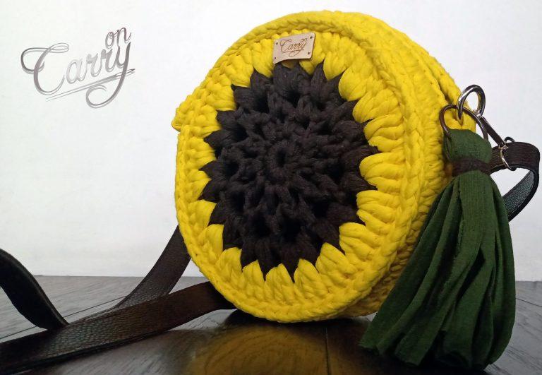 дамска-арт-чанта-слънчоглед
