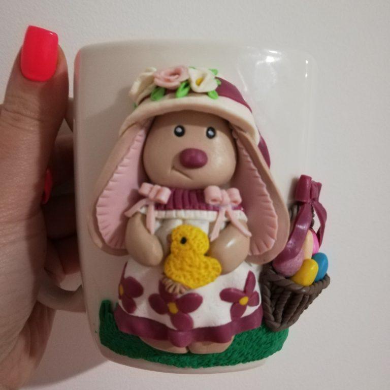 чаша-великденско-зайче-декорирана-с-полимерна-глина