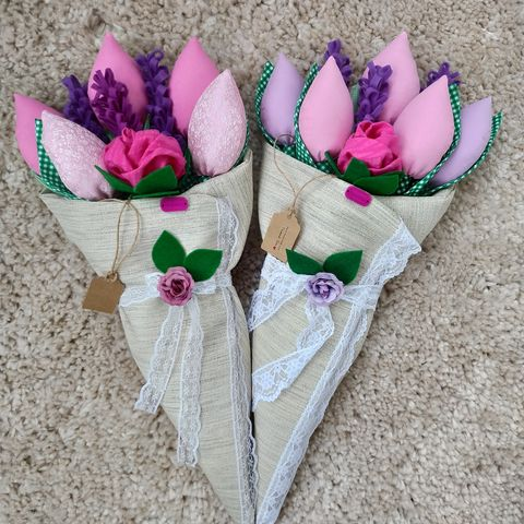 букет-цветя-изработени-от-текстил