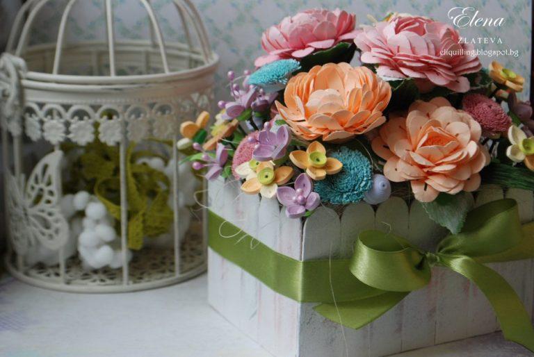 цветя-в-кашпа-изработени-с-квилинг-техника