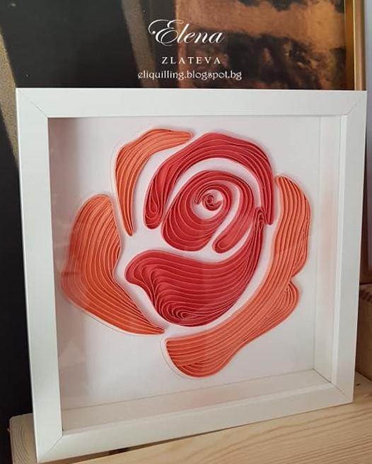 квилинг-картина-роза